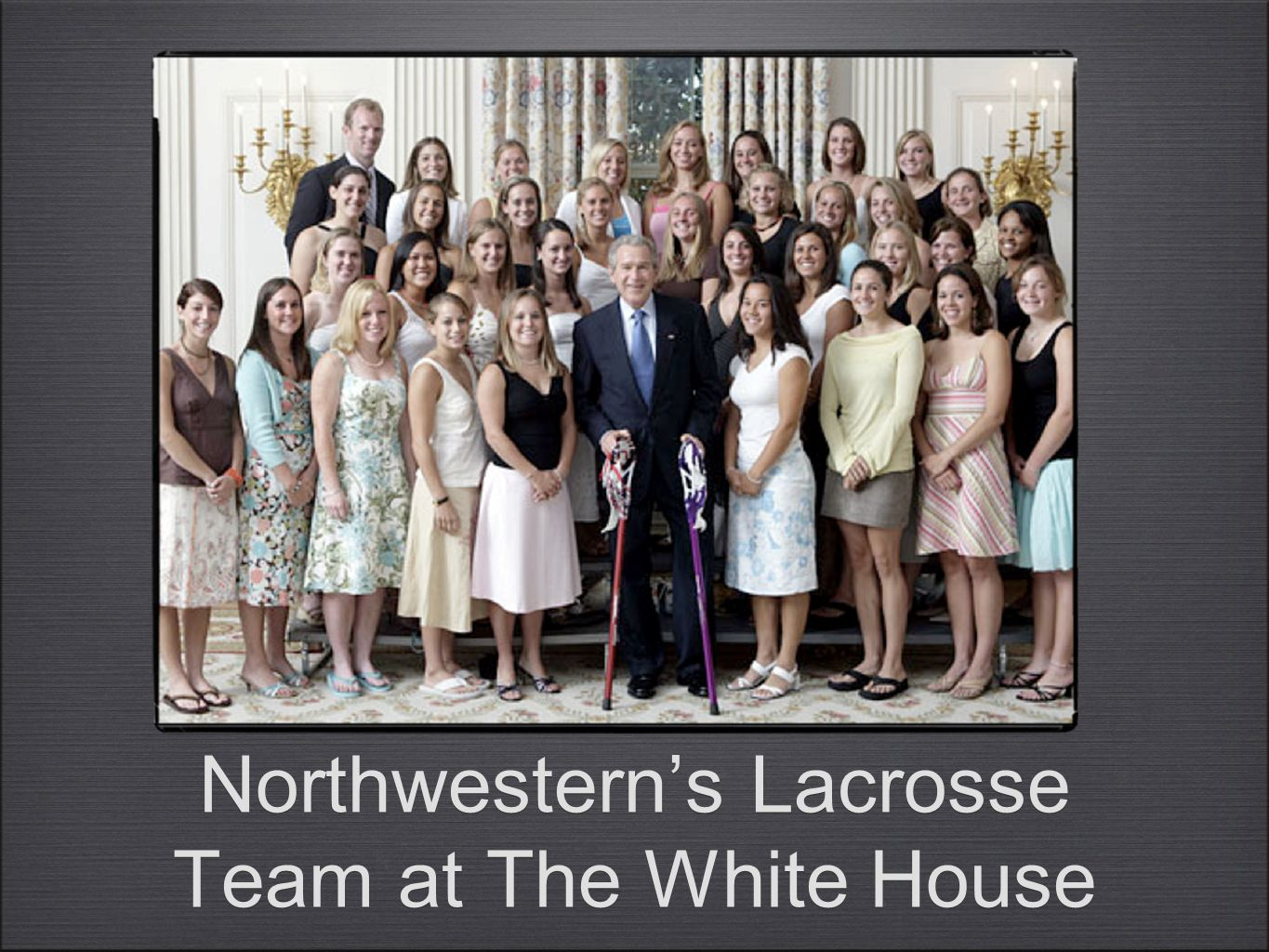 Northwestern's Lacrosse Team at The White House