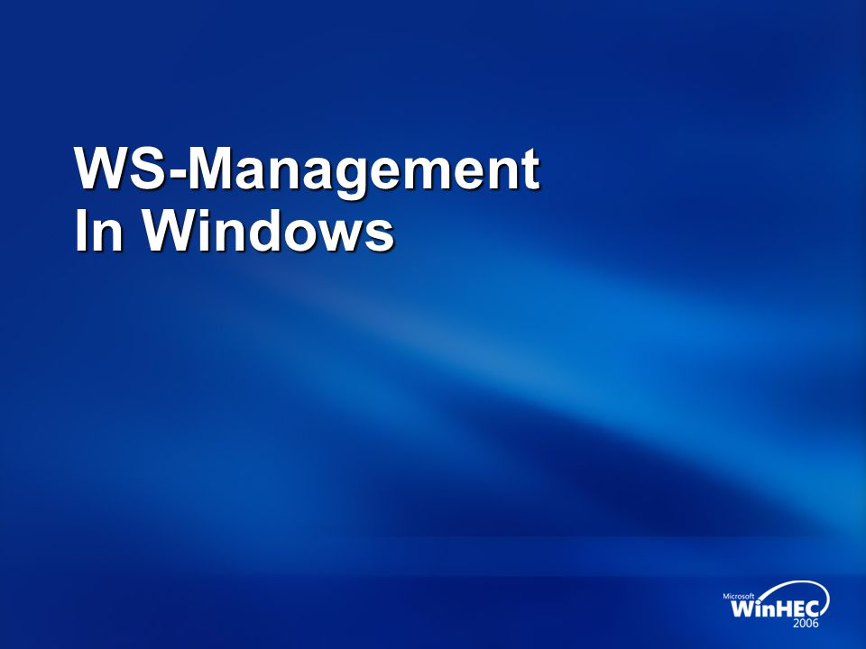 WS-Management In Windows