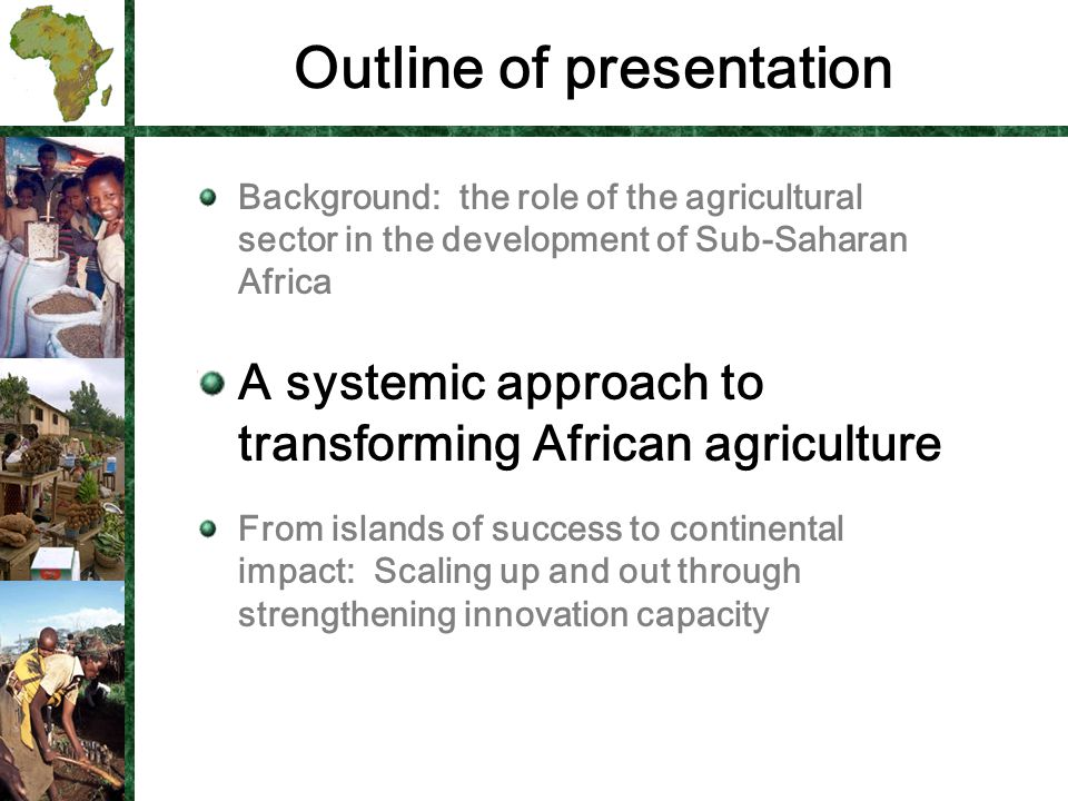 The main Challenge for Sub Saharan Africa: Poverty.