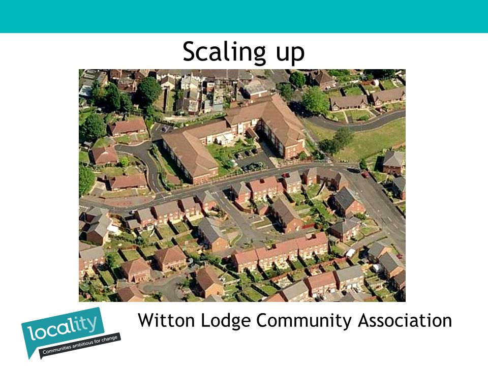 Witton Lodge Community Association Scaling up