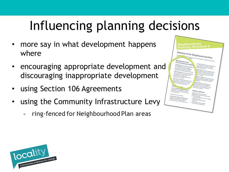 Planning gain South Wye Development Trust