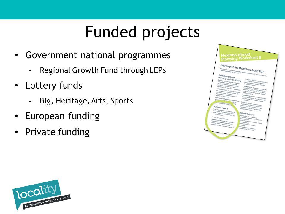 Locality Members grant funding assetsenterprise