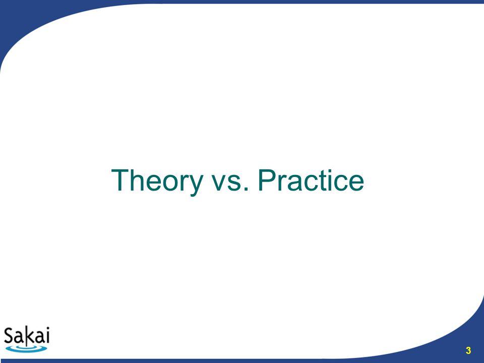 3 Theory vs. Practice