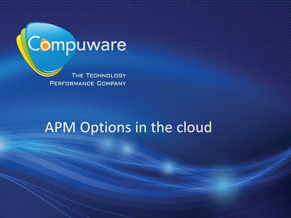 APM Options in the cloud