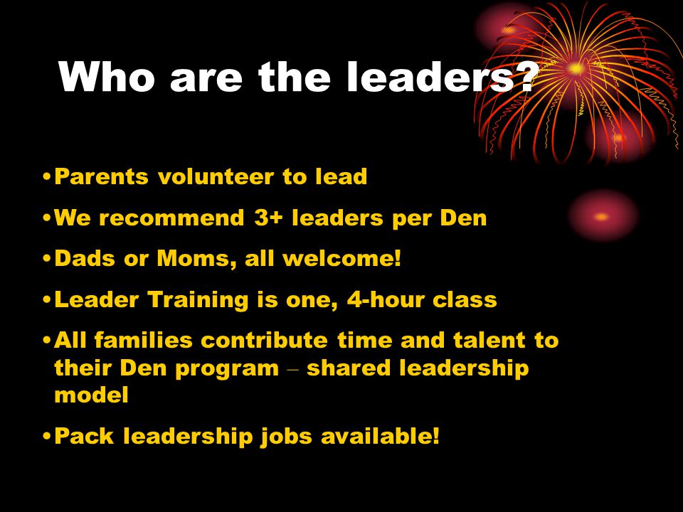 Who are the leaders.