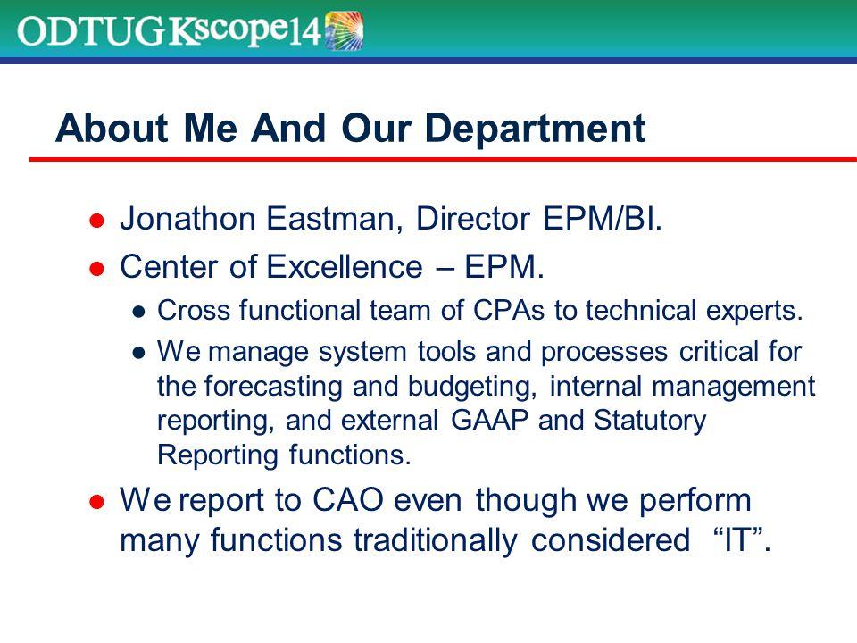 Oracle EPM @ WellPoint