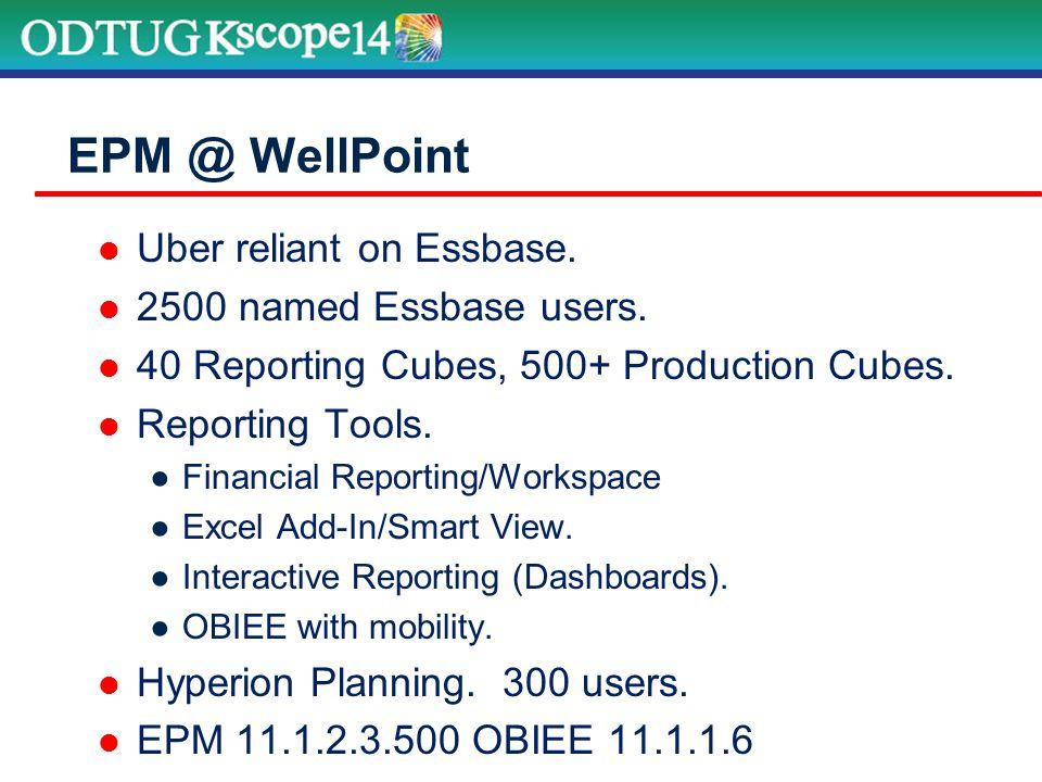 WellPoint's New Infrastructure – Part 2 Added 4 th Exalytics Server.