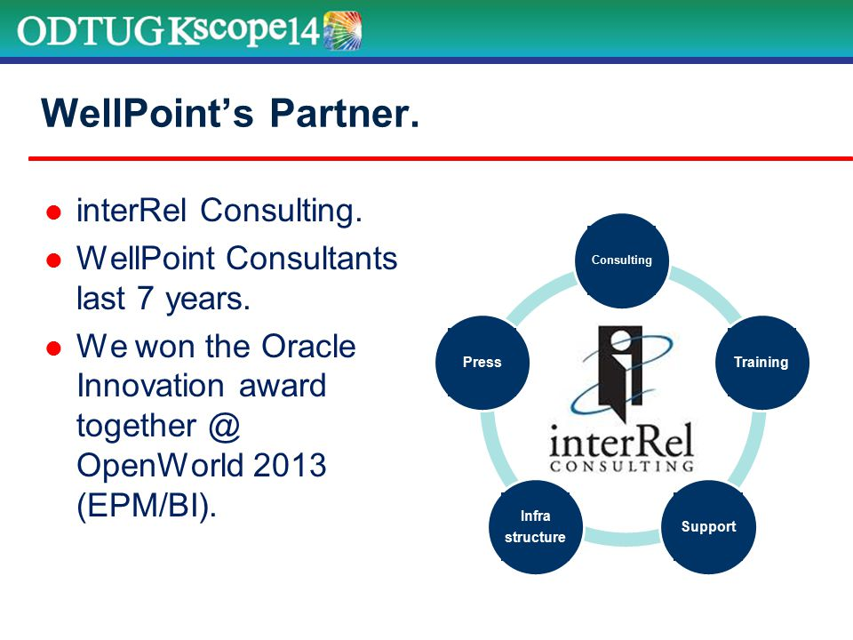 interRel Consulting. WellPoint Consultants last 7 years.
