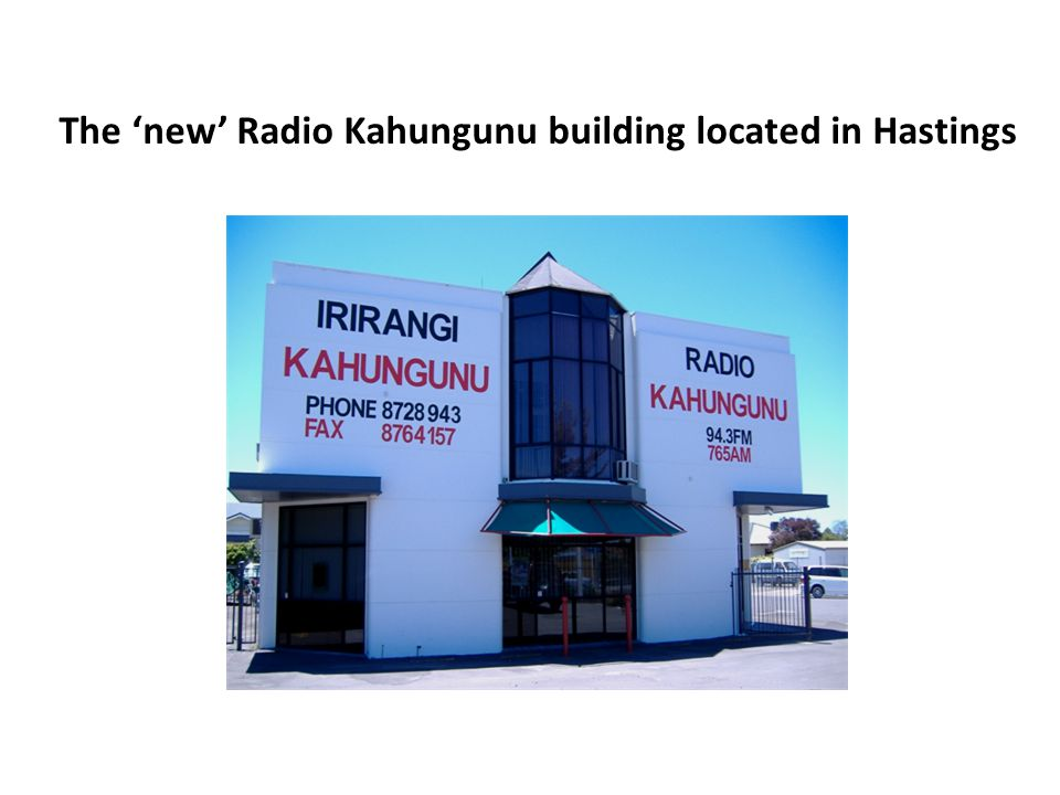 The 'new' Radio Kahungunu building located in Hastings