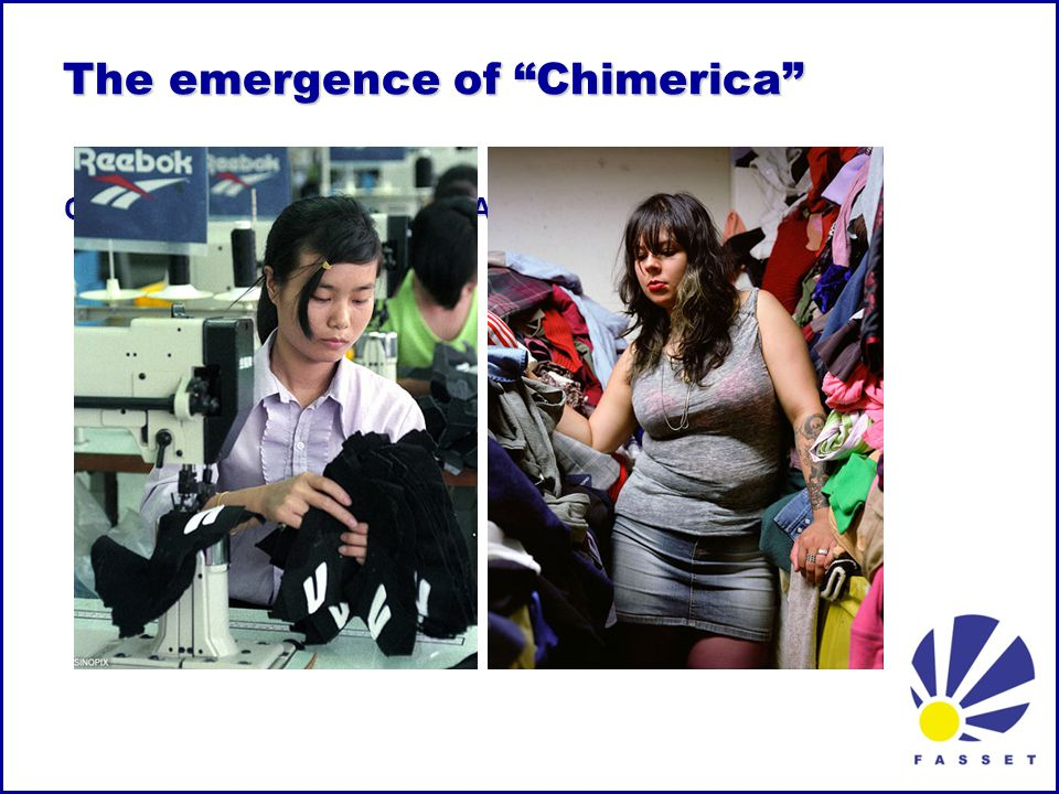 The emergence of Chimerica The emergence of Chimerica CHINA: export & save AMERICA: borrow & spend