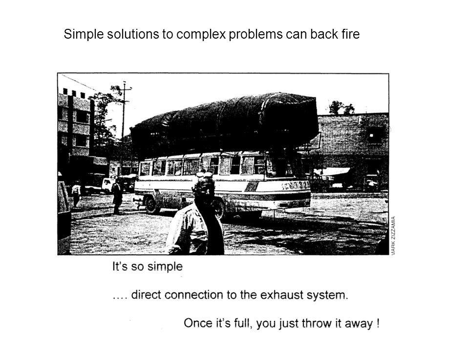 Simple solutions to complex problems can back fire