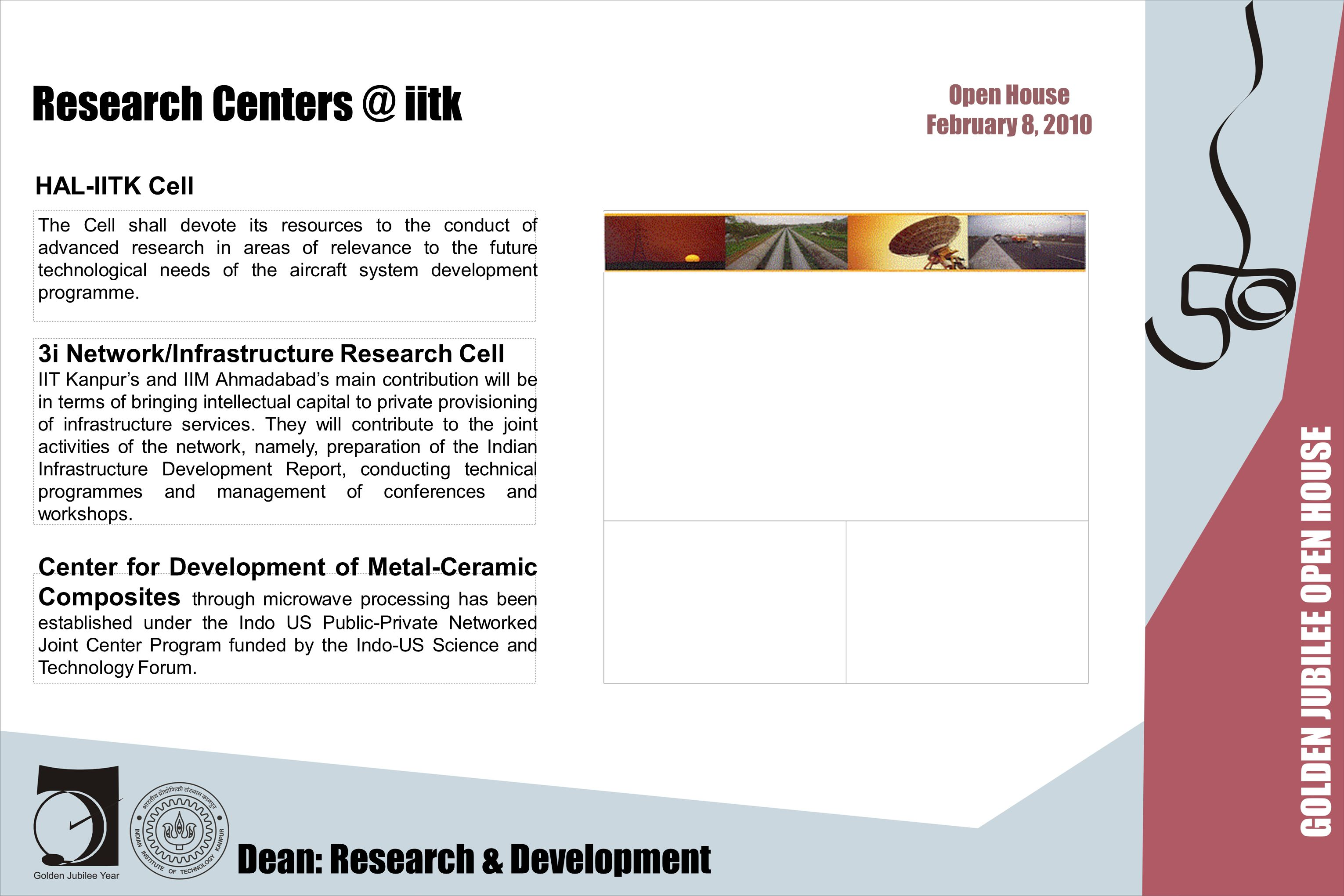Research Centers @ iitk The Cell shall devote its resources to the conduct of advanced research in areas of relevance to the future technological need