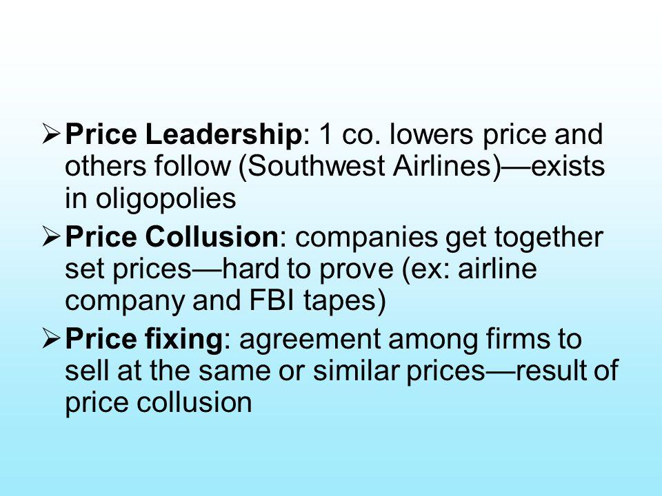  Price Leadership: 1 co.