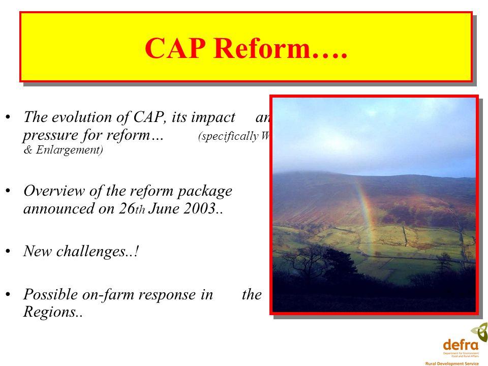 CAP Reform….