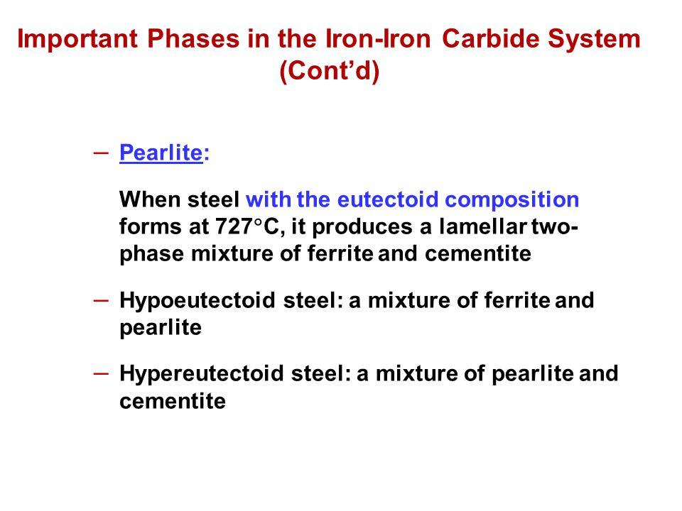 (a) Coarse Pearlite (b) Fine Pearlite Photomicrographs of (a) coarse pearlite and (b) fine pearlite.