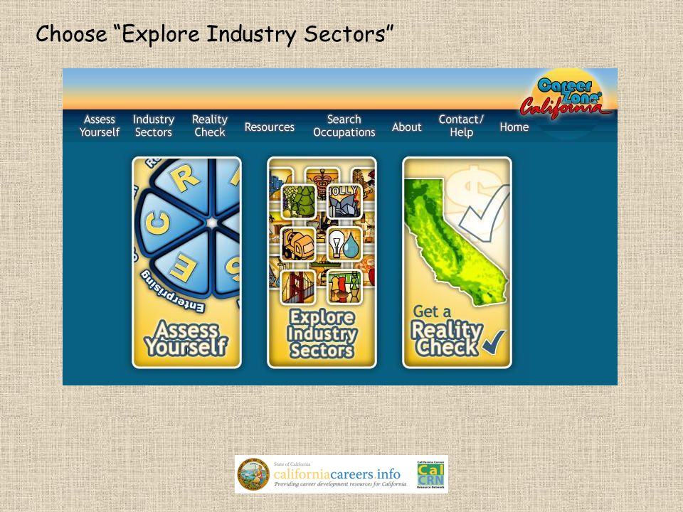 Choose Explore Industry Sectors