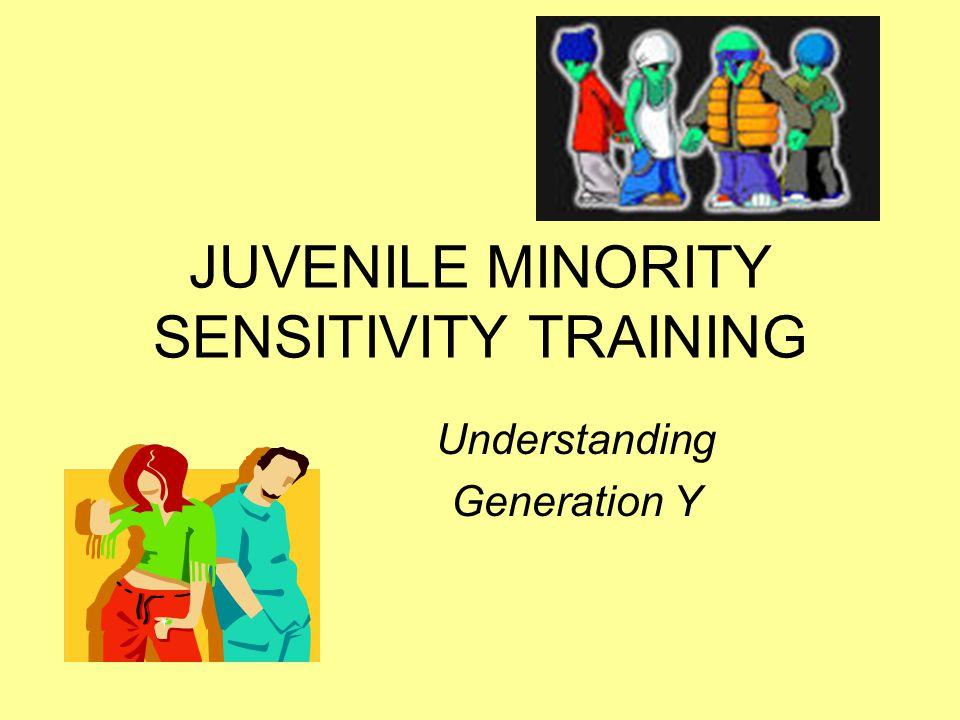 JUVENILE MINORITY SENSITIVITY TRAINING Understanding Generation Y