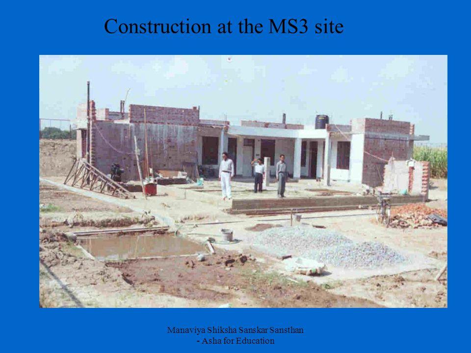 Manaviya Shiksha Sanskar Sansthan - Asha for Education Construction at the MS3 site