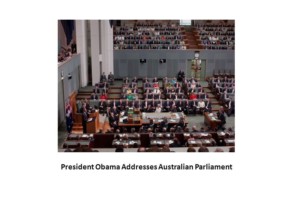 President Obama Addresses Australian Parliament
