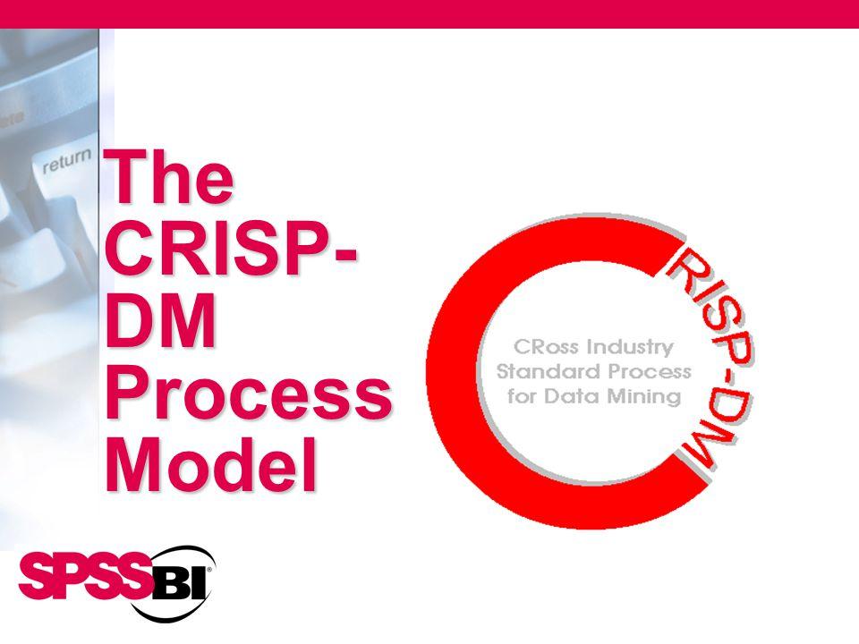 The CRISP- DM Process Model