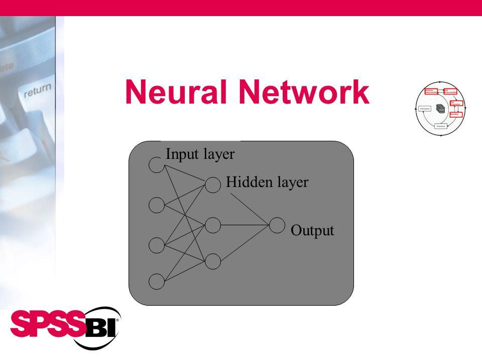 Neural Network Output Hidden layer Input layer