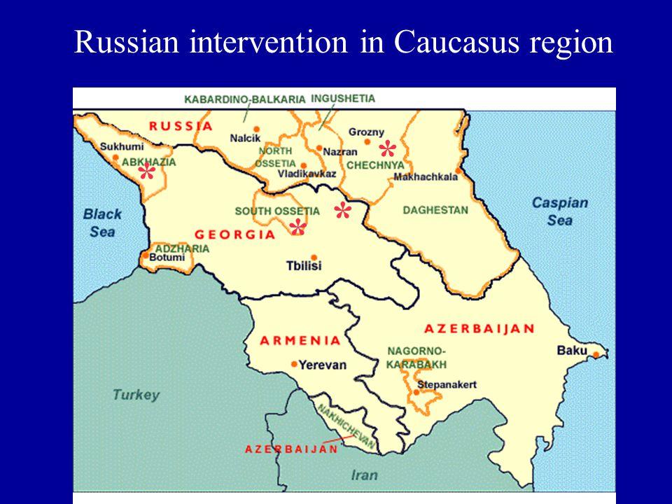Russian intervention in Caucasus region * * * *
