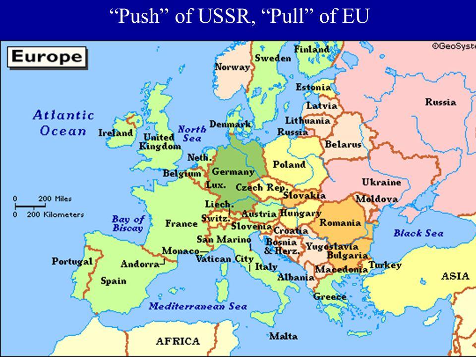"""Push"" of USSR, ""Pull"" of EU"