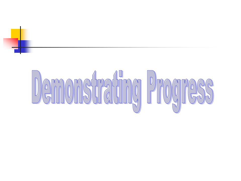 Four principles for demonstrating progress: 1.