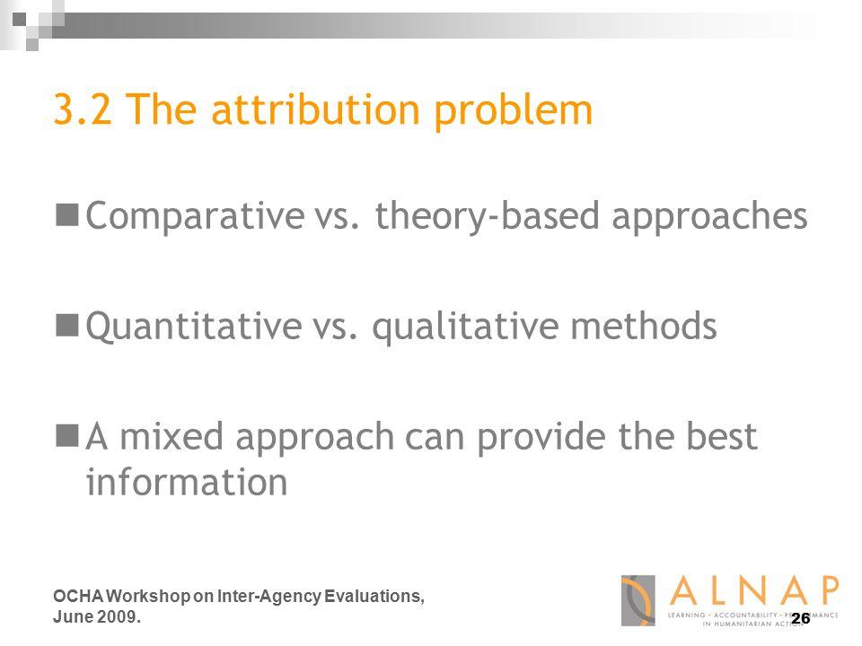 26 OCHA Workshop on Inter-Agency Evaluations, June 2009.