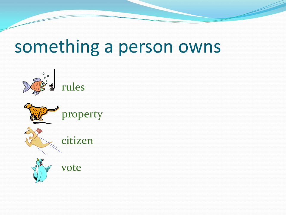 something a person owns rules property citizen vote