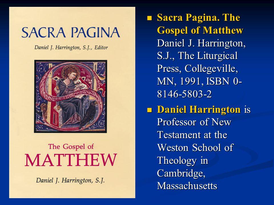 Sacra Pagina.The Gospel of Matthew Daniel J.