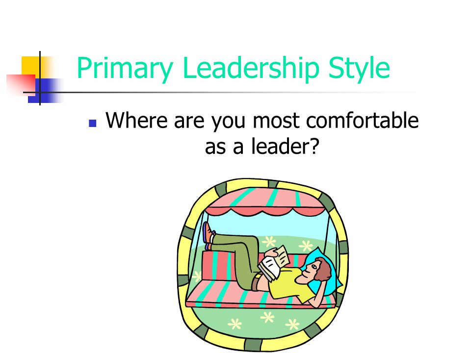 Primary Leadership Style Where are you most comfortable as a leader?
