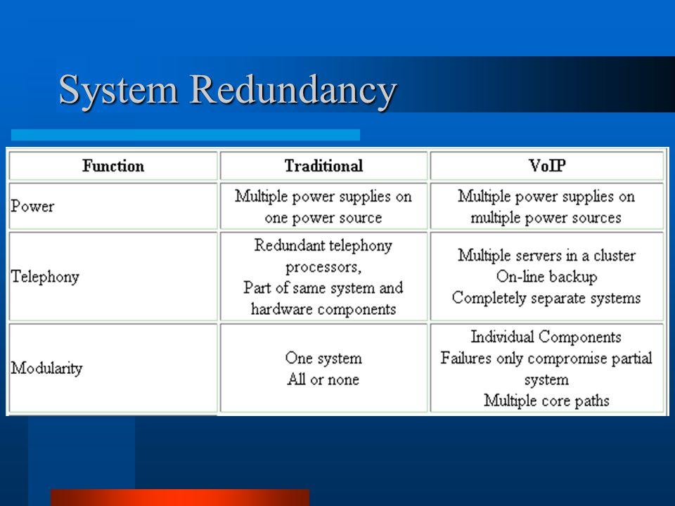 System Redundancy
