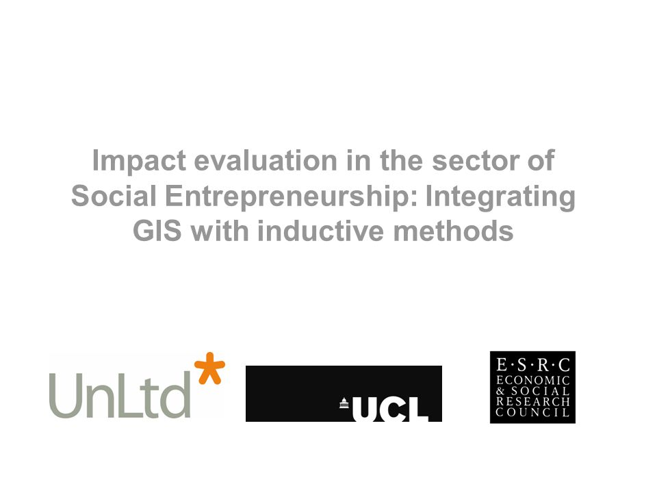 Impact evaluation in the sector of Social Entrepreneurship: Integrating GIS with inductive methods