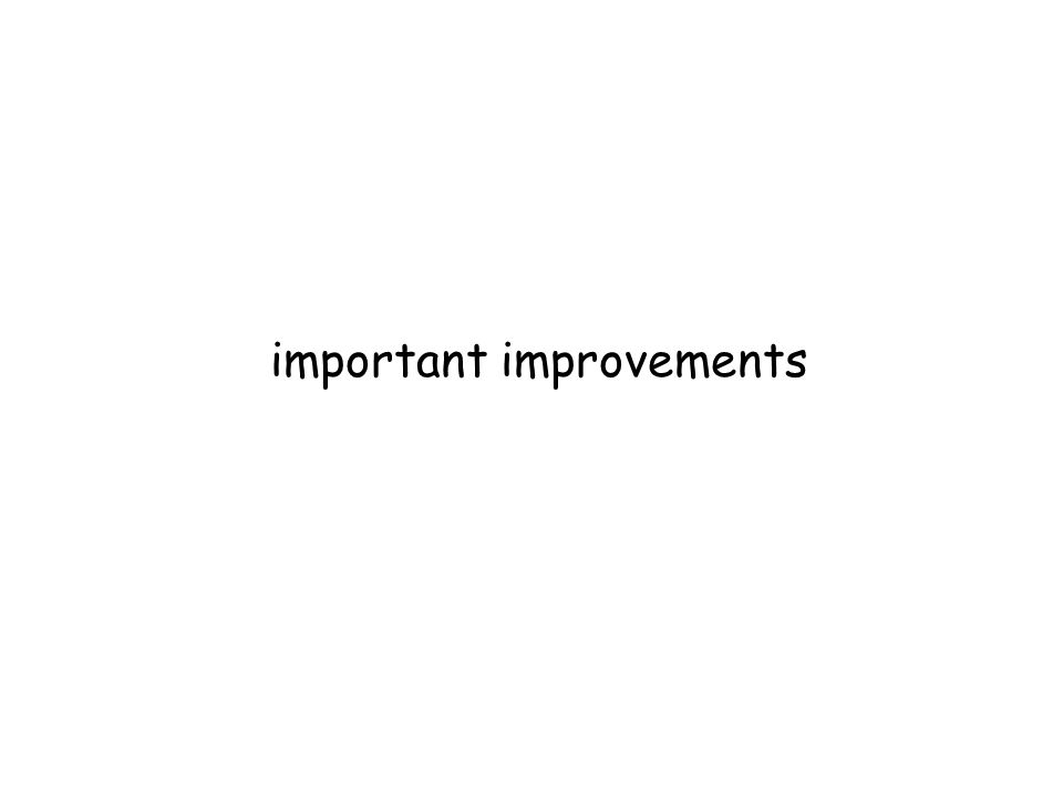 important improvements