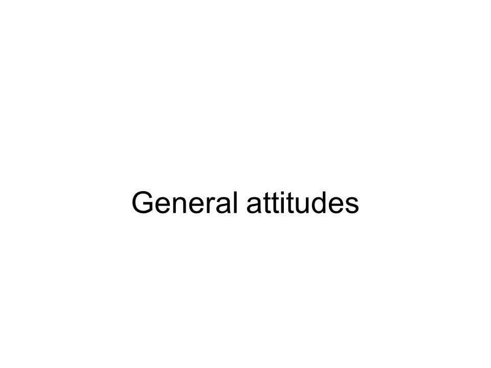 General attitudes