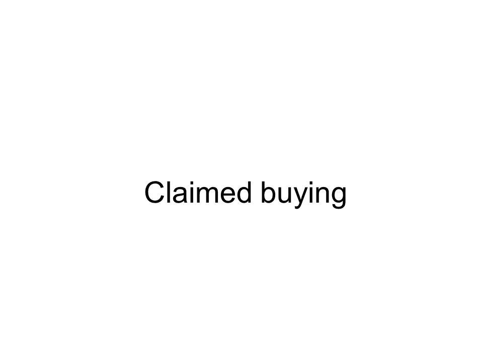 Claimed buying