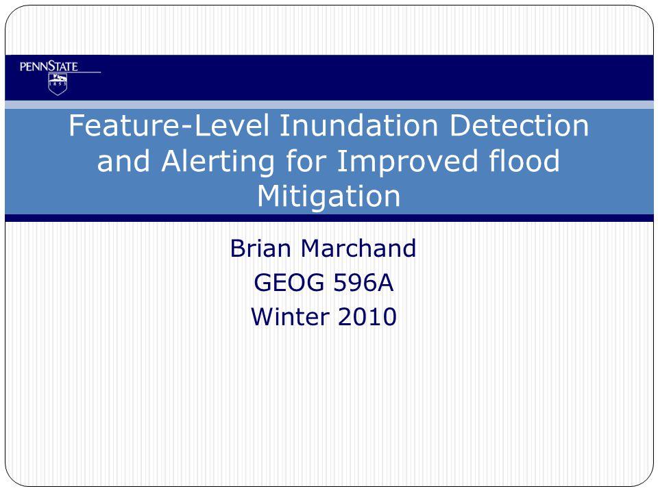 GEOG 597A 12 Inundation Analysis