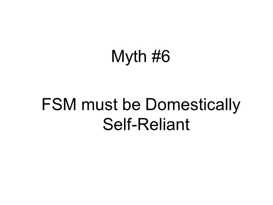 Myth #6 FSM must be Domestically Self-Reliant