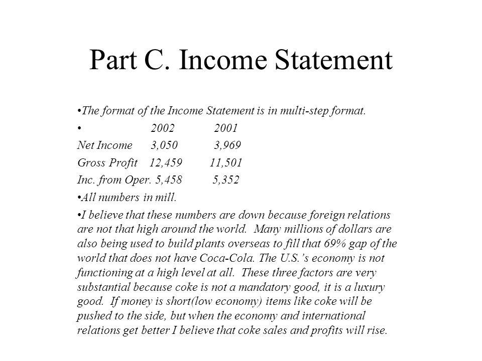 Part C.Balance Sheet 2002 Assets = Liabilities + Stockholders Equ.
