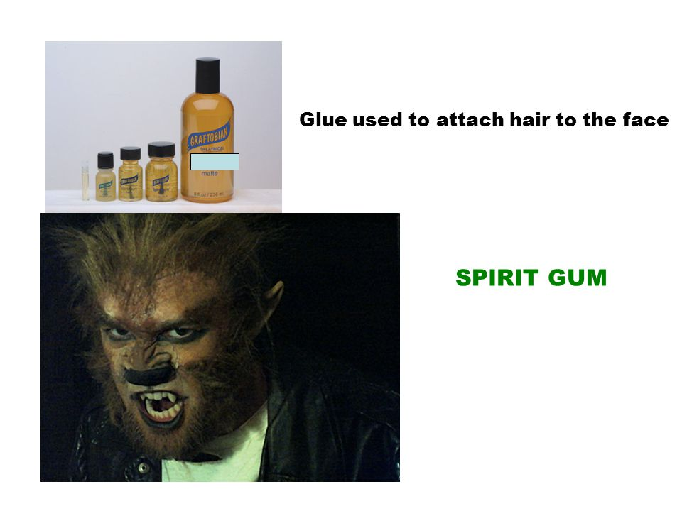 Glue used to attach hair to the face SPIRIT GUM