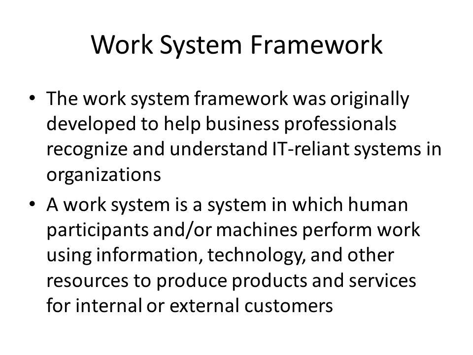 Work System Framework