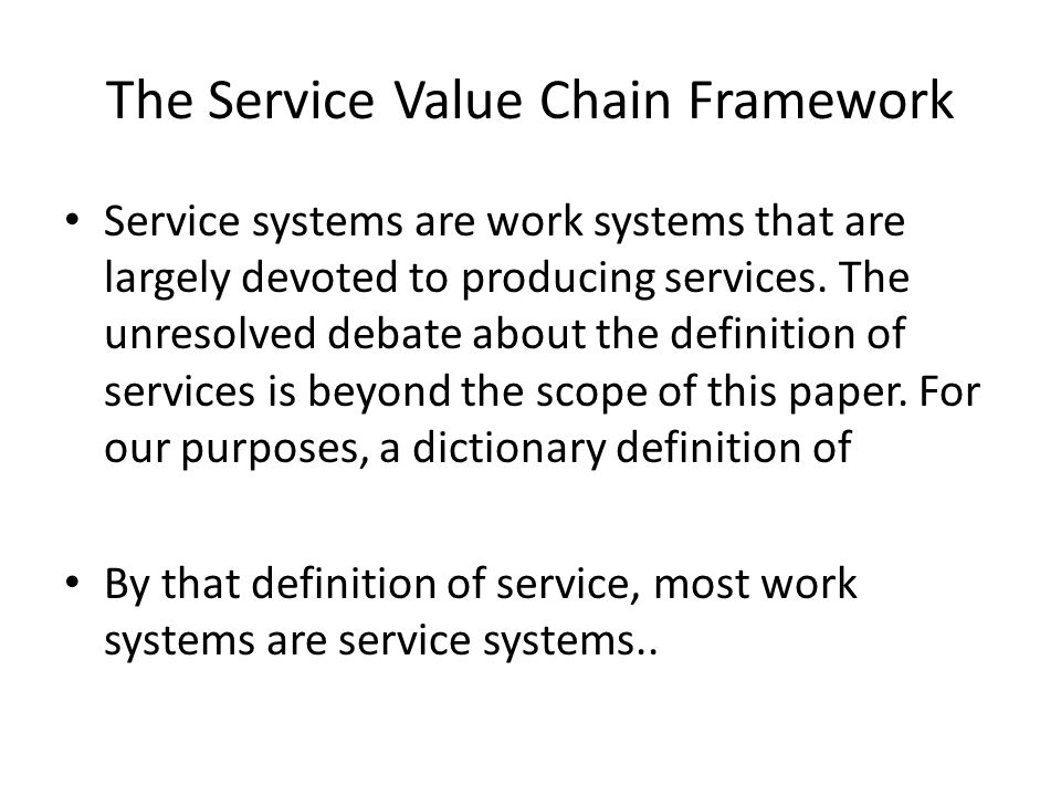 Conclusion SRTs might become a useful tool for developing a preliminary understanding of IT- reliant work systems from a business viewpoint, and for discussing the scope and nature of a system that is to be analyzed and improved.