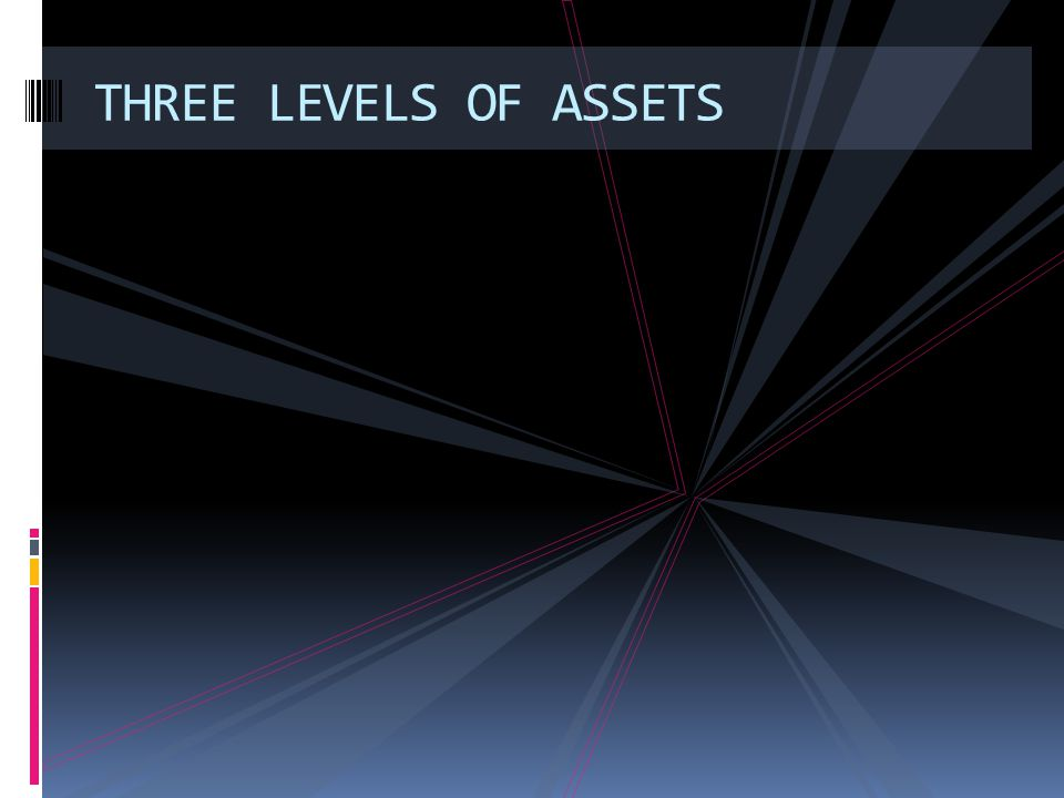 THREE LEVELS OF ASSETS