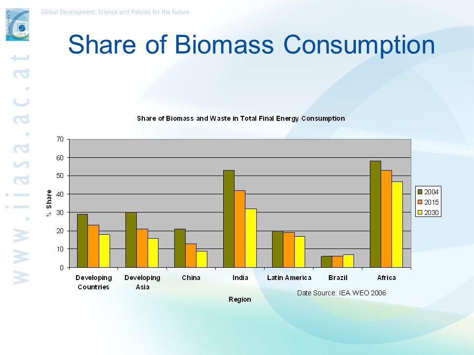 Share of Biomass Consumption