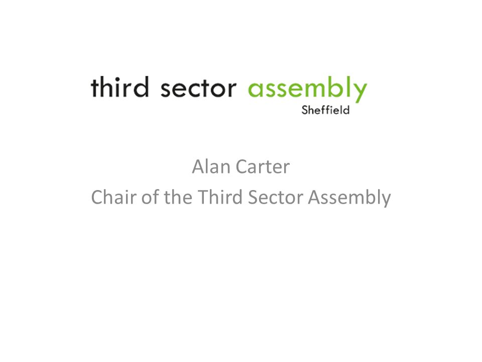 Alan Carter Chair of the Third Sector Assembly