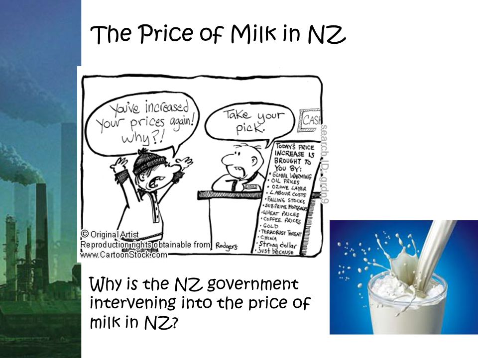 The Price of Milk in NZ Why is the NZ government intervening into the price of milk in NZ