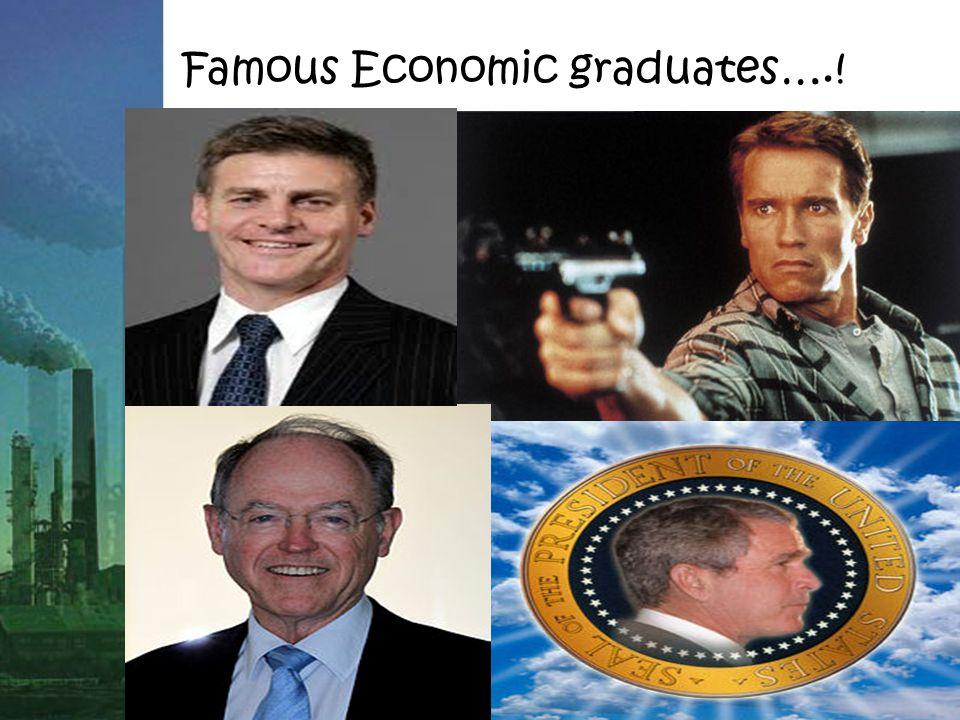Famous Economic graduates….!