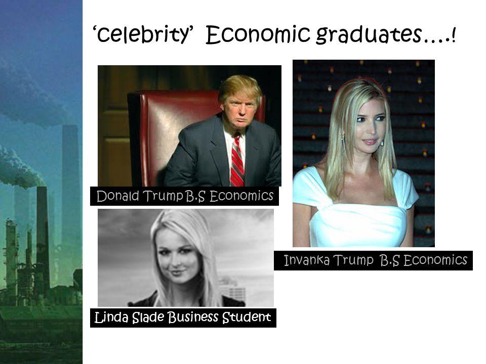 'celebrity' Economic graduates…..