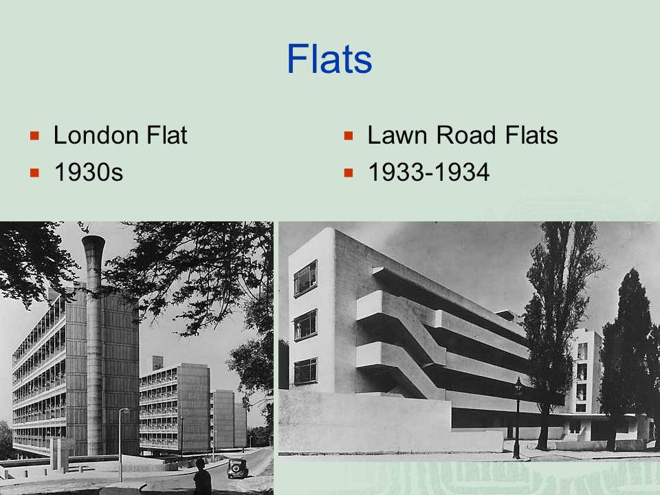 Flats  London Flat  1930s  Lawn Road Flats  1933-1934